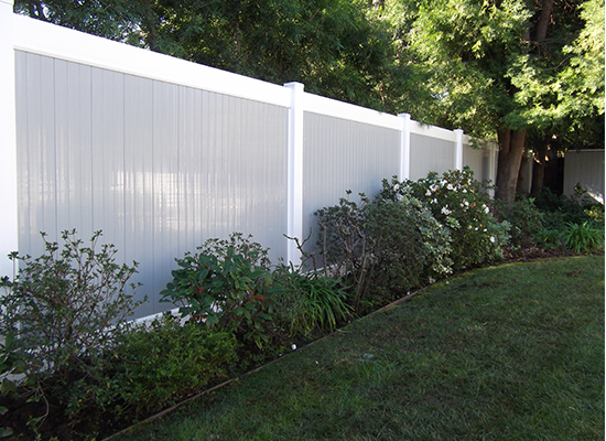 two tone vinyl pvc fence Elk Grove ca