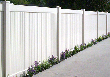 White Vinyl Privacy_Elk Grove _CA